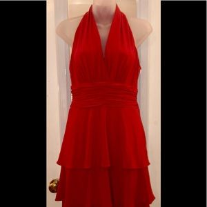 Reduced! Evan Picone size 4 red halter dress